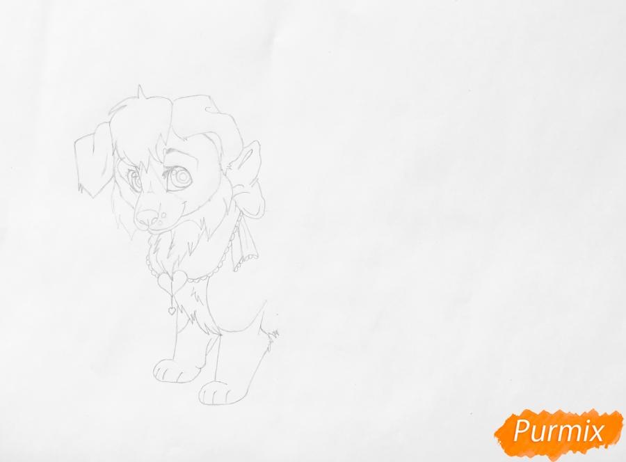 Рисуем аниме собаку Ella - шаг 5