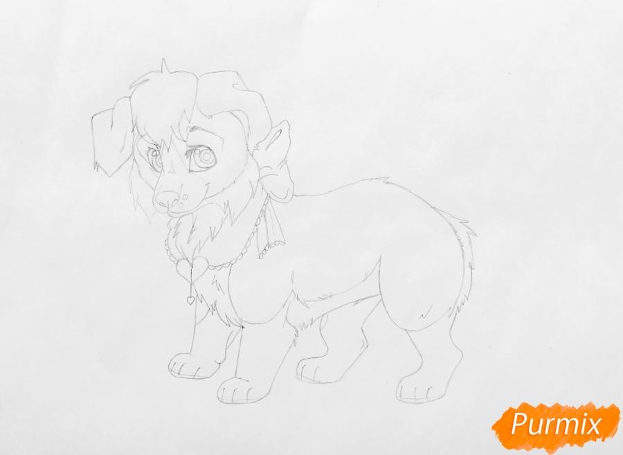 Рисуем аниме собаку Ella - шаг 6