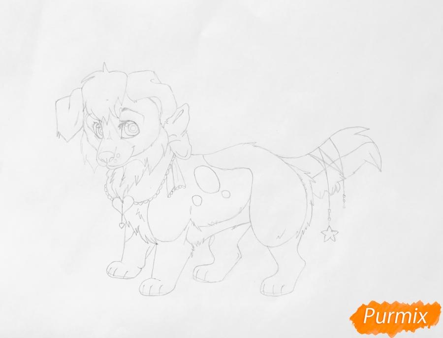 Рисуем аниме собаку Ella - шаг 7