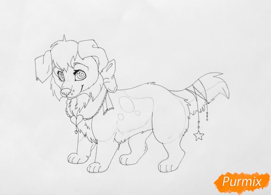 Рисуем аниме собаку Ella - шаг 8