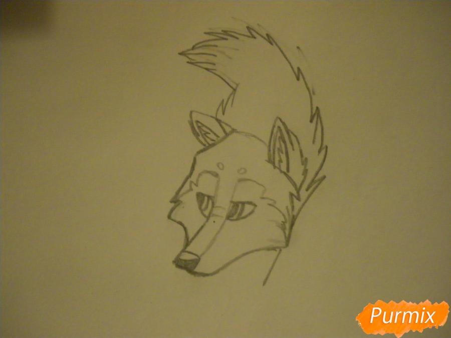 Рисуем аниме собаку с коричневым окрасом - шаг 4