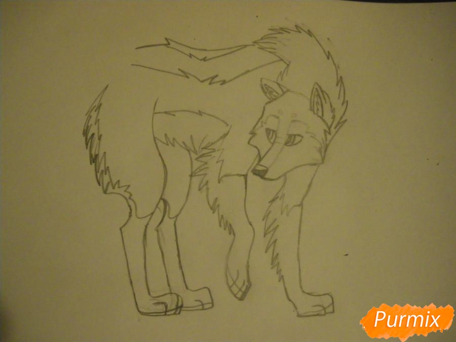 Рисуем аниме собаку с коричневым окрасом - фото 7