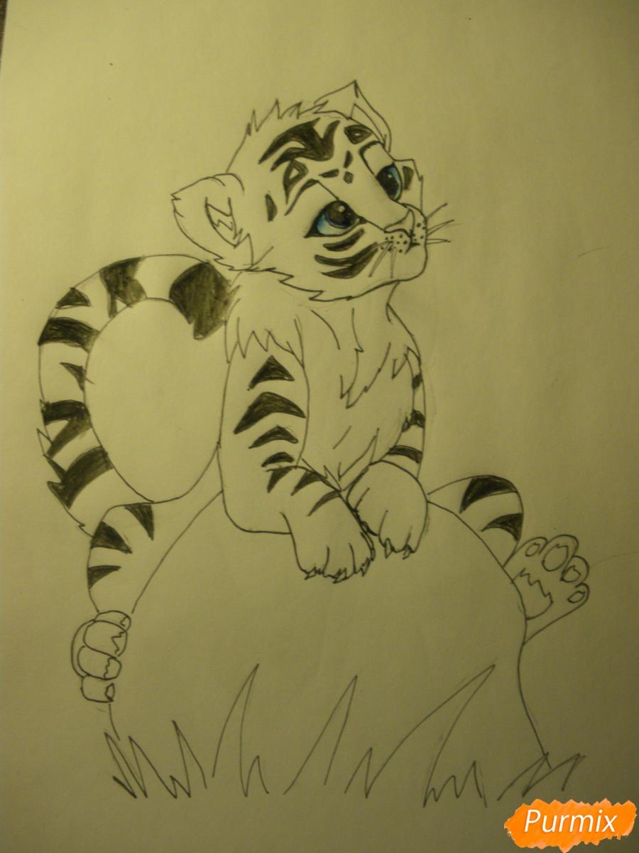 Рисуем аниме тигра - фото 10