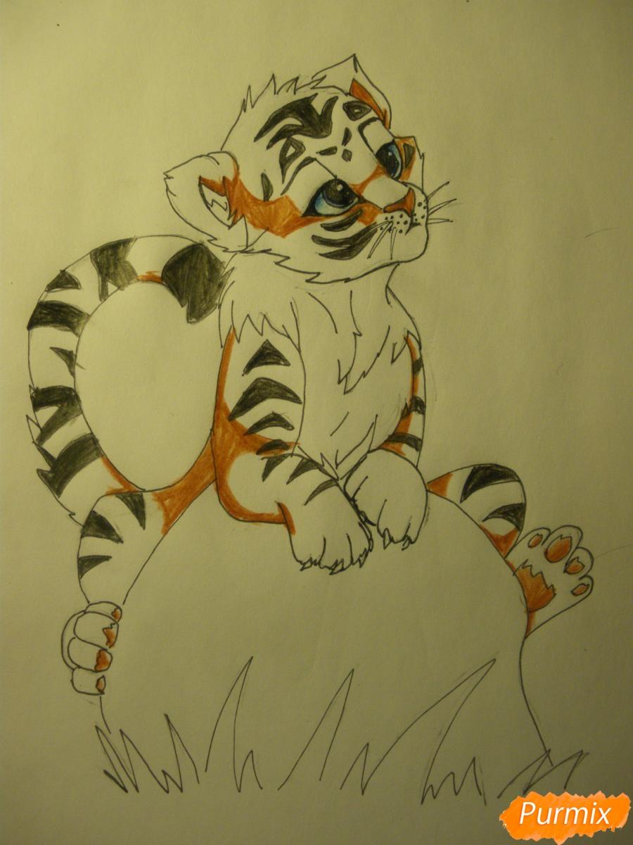 Рисуем аниме тигра - фото 11