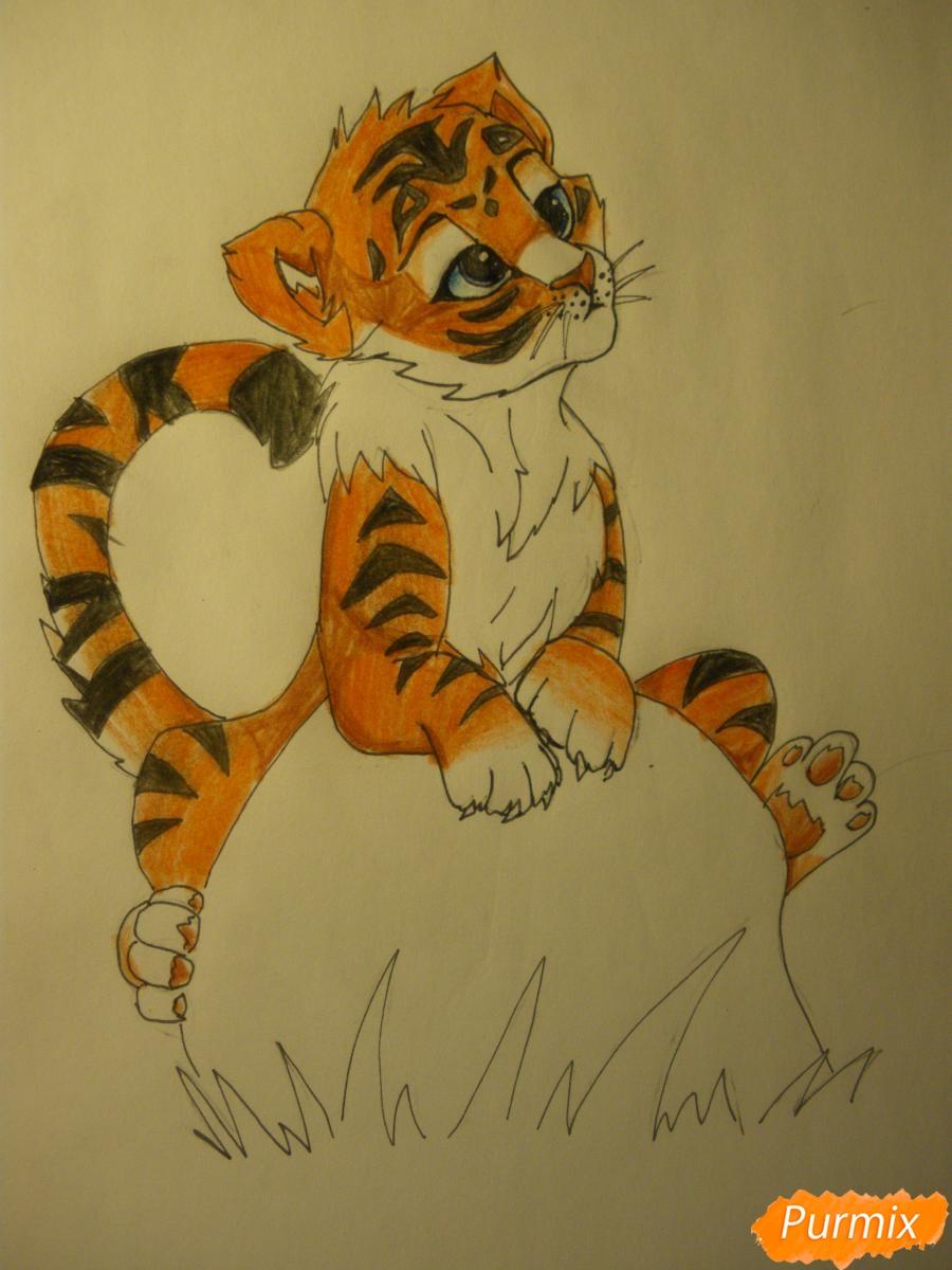 Рисуем аниме тигра - фото 12