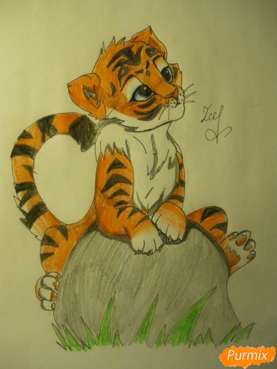 Рисуем аниме тигра - фото 13