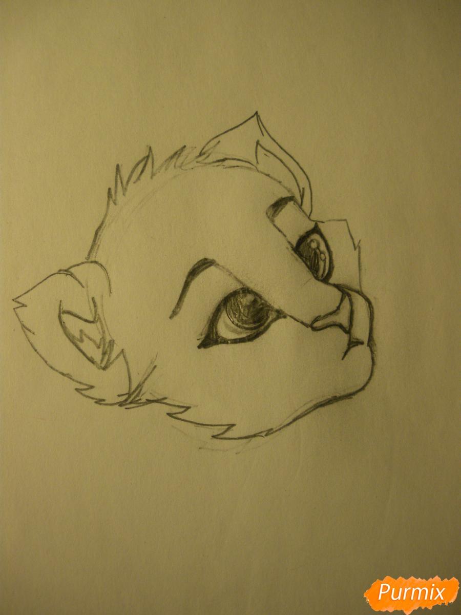 Рисуем аниме тигра - фото 3
