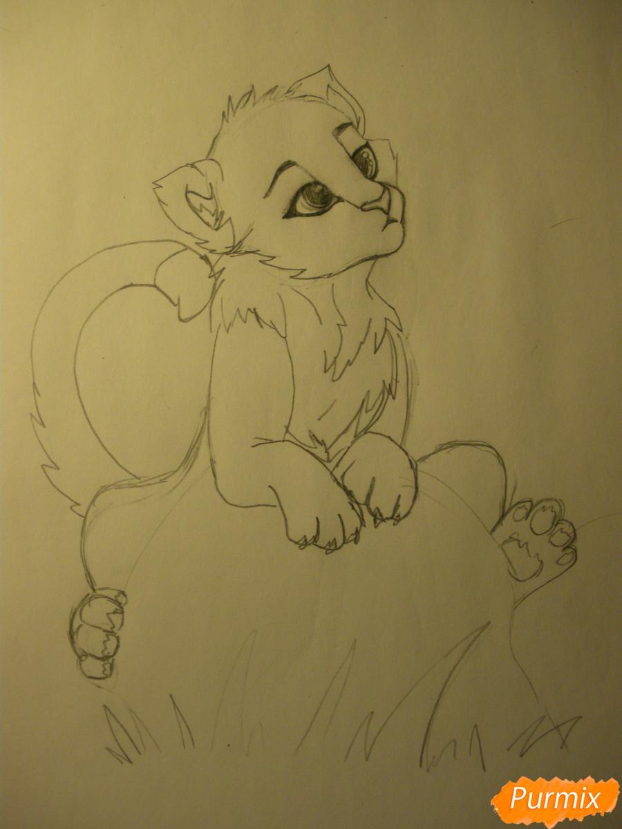 Рисуем аниме тигра - фото 7