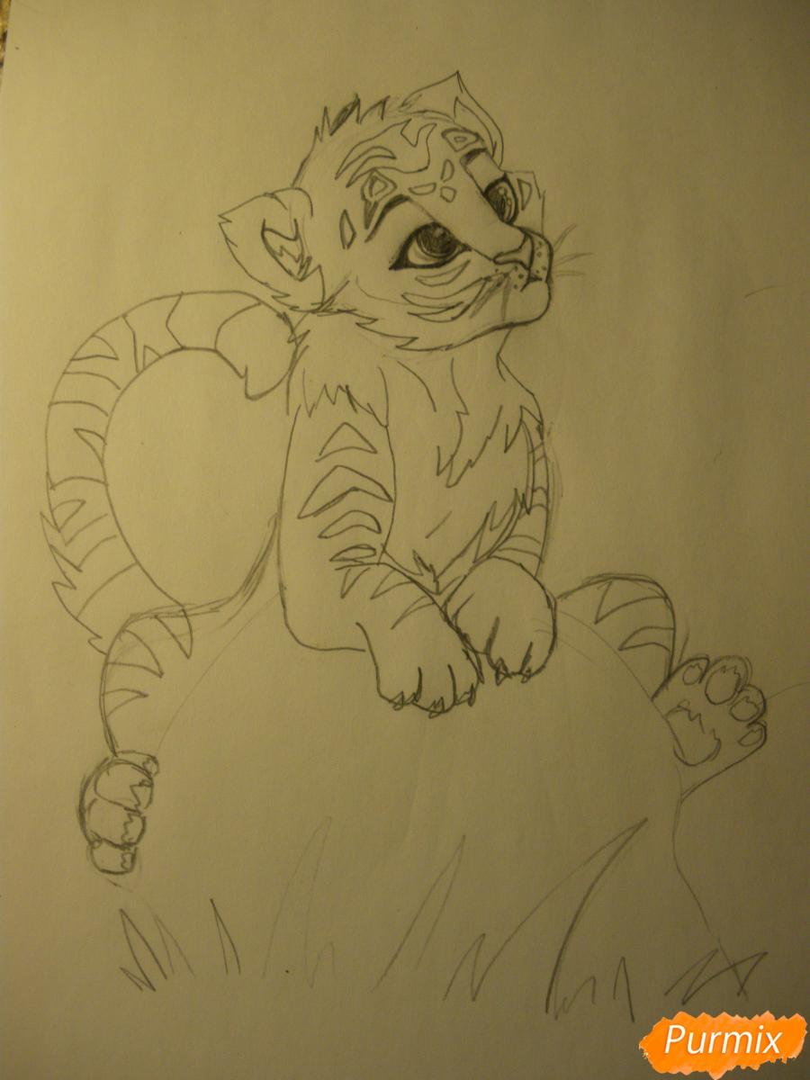 Рисуем аниме тигра - фото 8