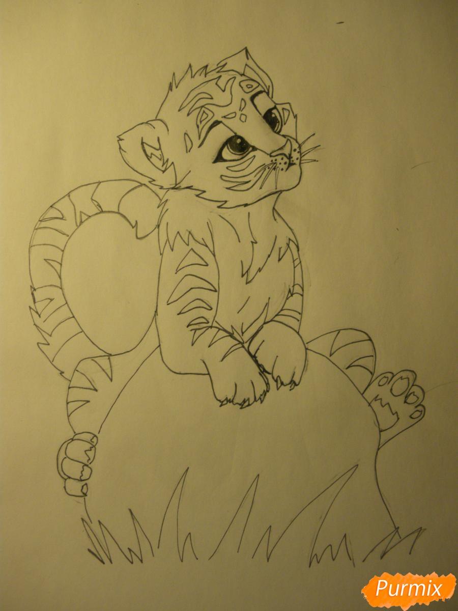 Рисуем аниме тигра - фото 9