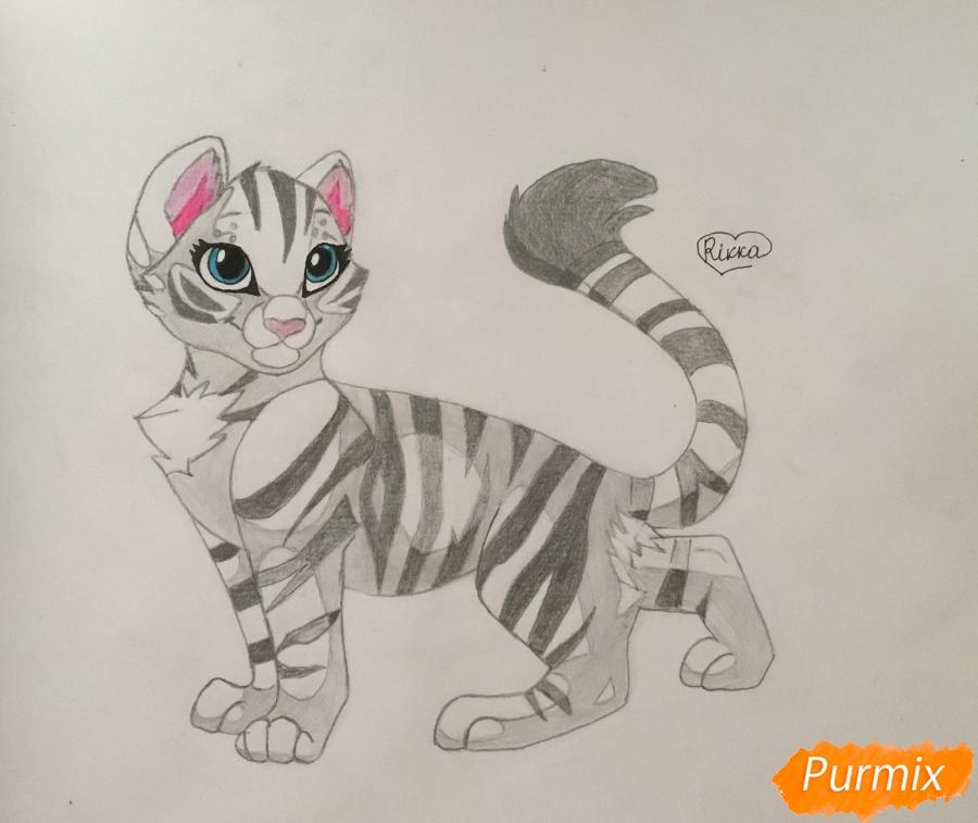 Рисуем  белую аниме тигрицу - фото 7