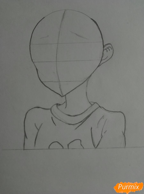 Рисуем аниме-тянку с ушками карандашами - шаг 2