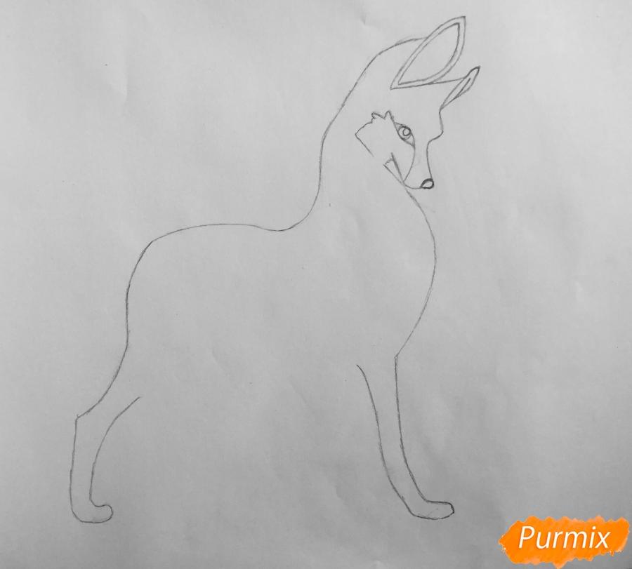 Рисуем аниме волчицу - шаг 3