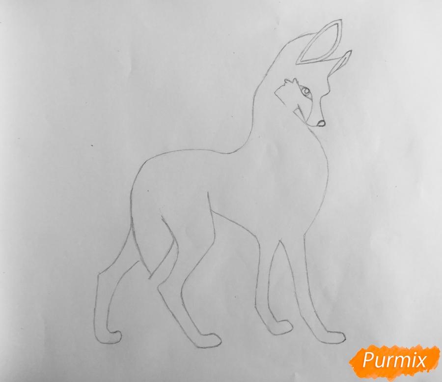 Рисуем аниме волчицу - шаг 4