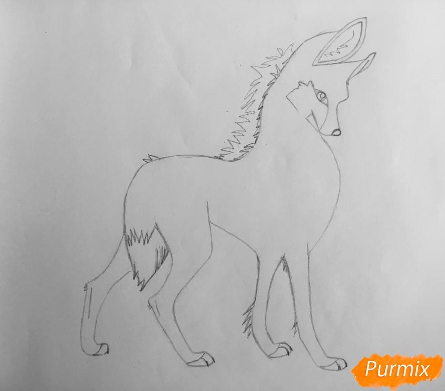 Рисуем аниме волчицу - шаг 5