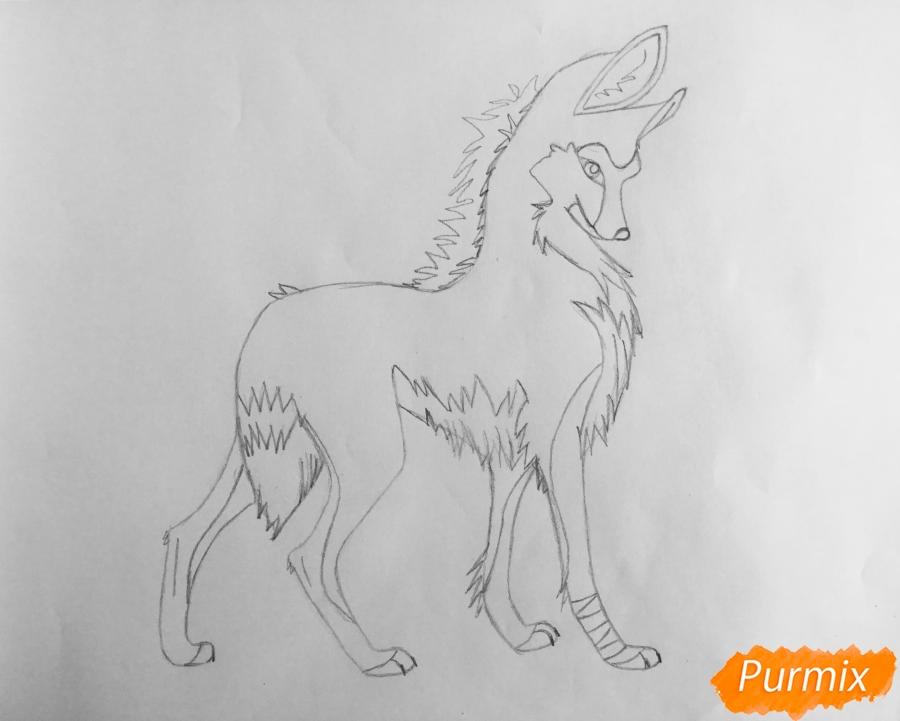 Рисуем аниме волчицу - шаг 6
