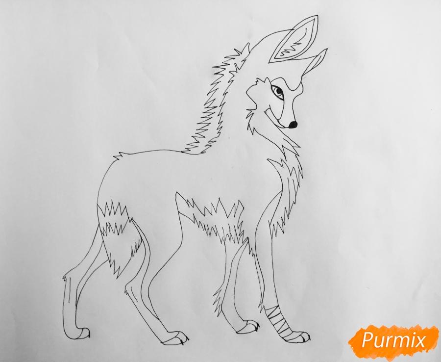 Рисуем аниме волчицу - шаг 7
