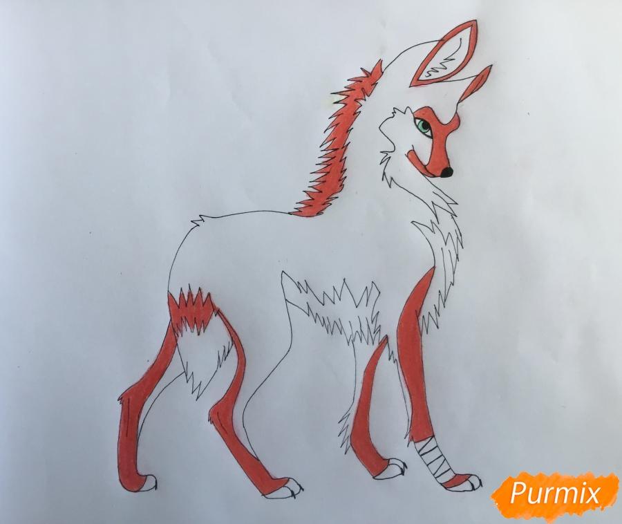 Рисуем аниме волчицу - шаг 8
