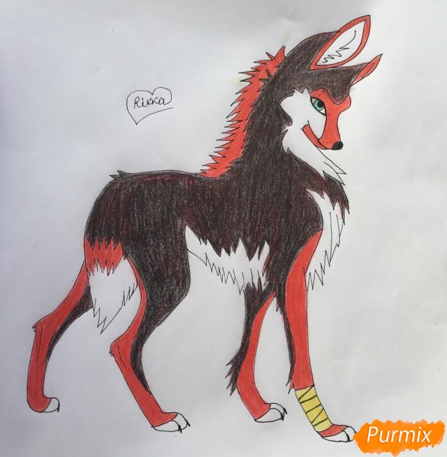 Рисуем аниме волчицу - шаг 9