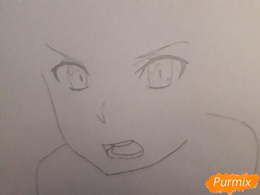 Рисуем Асада Сино из аниме Мастера меча онлайн - фото 2