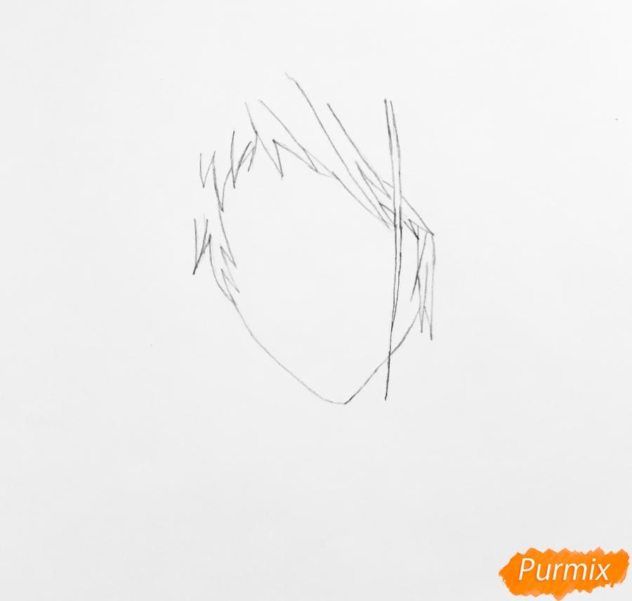 Рисуем портрет Бенедикта Блю из аниме Вайолетт Эвергарден - шаг 1