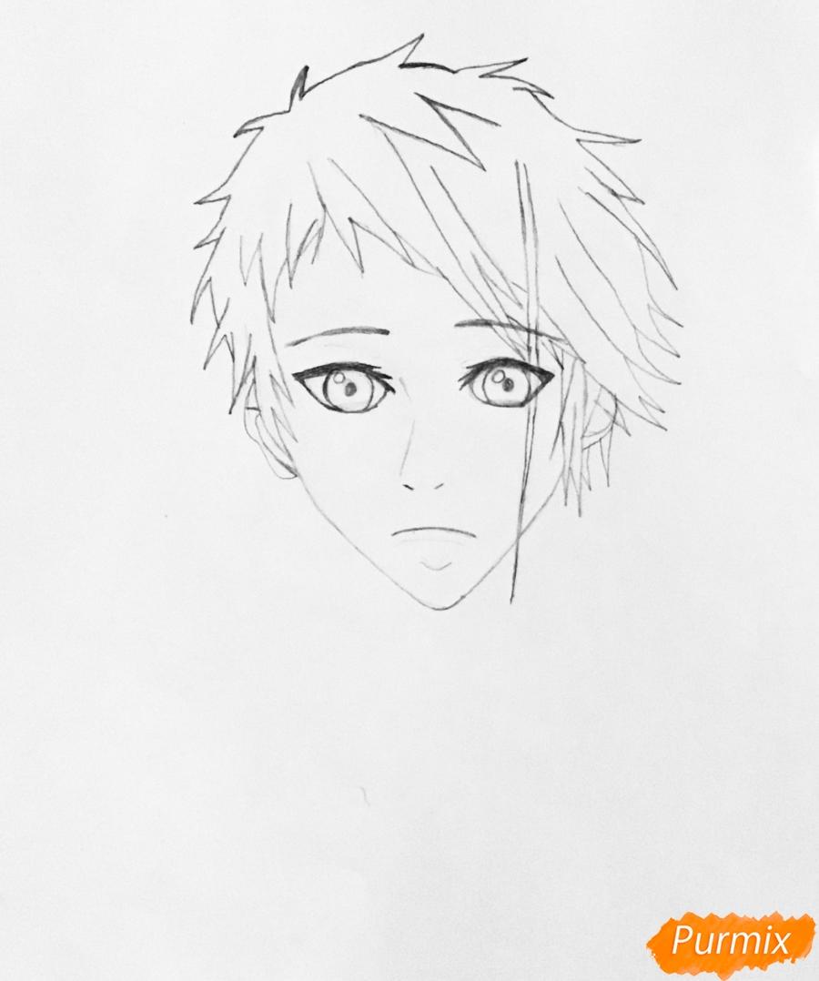 Рисуем портрет Бенедикта Блю из аниме Вайолетт Эвергарден - шаг 3