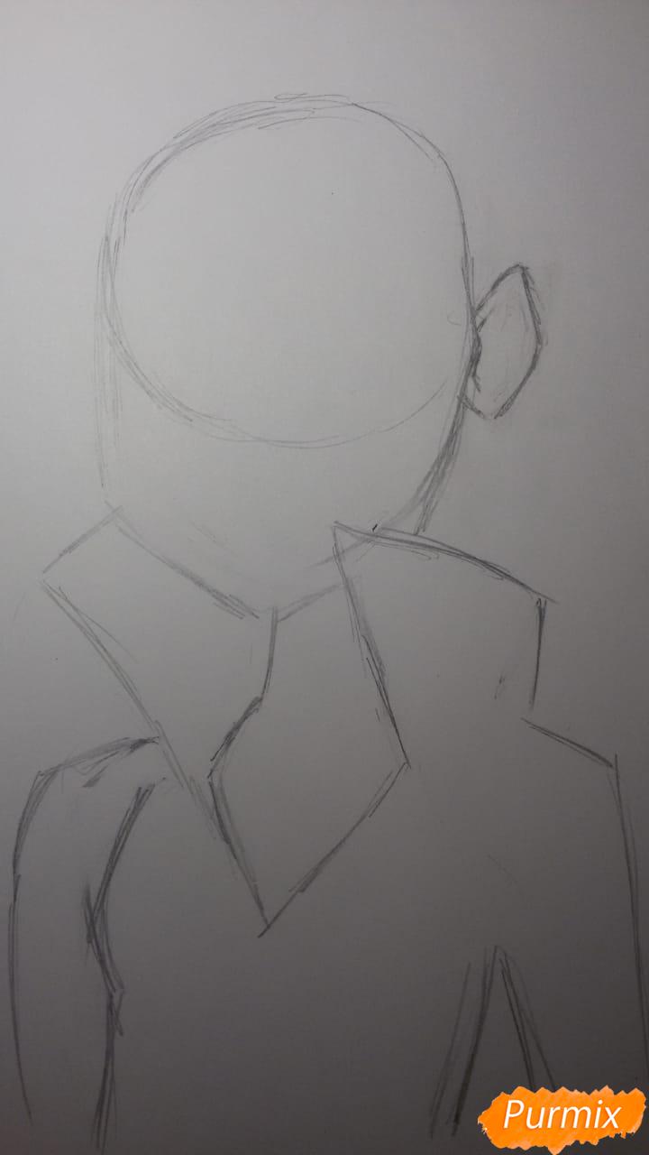 Рисуем Бурю из аниме Ванпанчмен - шаг 3