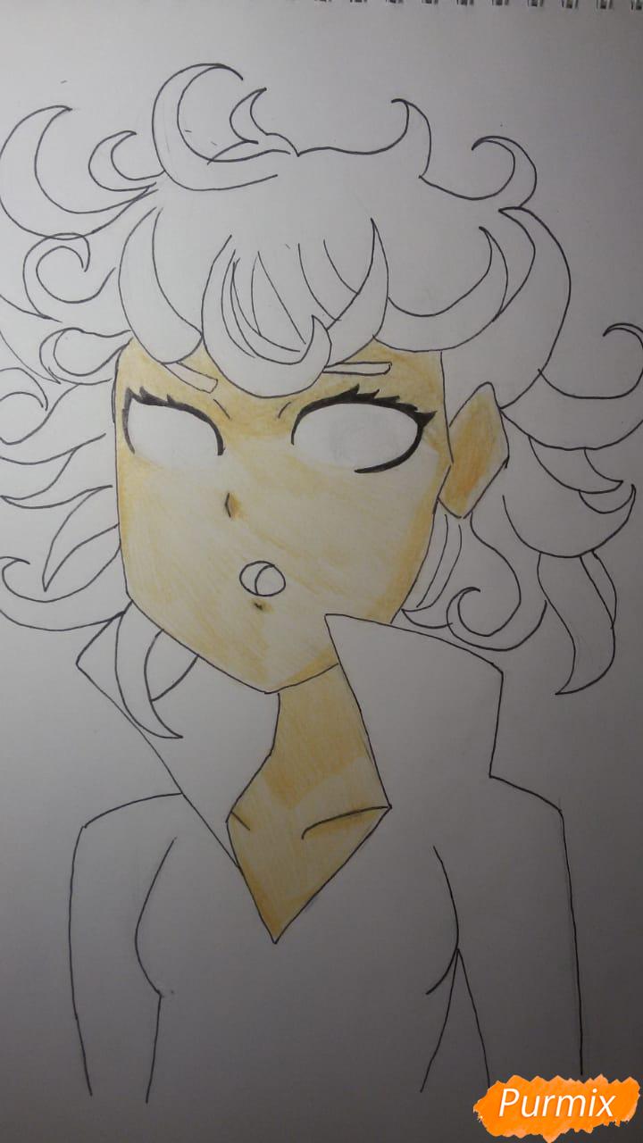 Рисуем Бурю из аниме Ванпанчмен - шаг 9