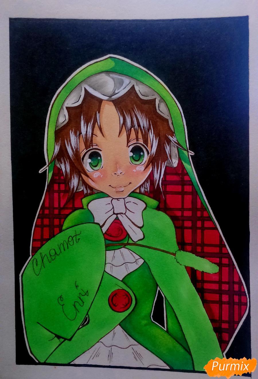Рисуем Чамо Россо из аниме Герои шести цветов - фото 10
