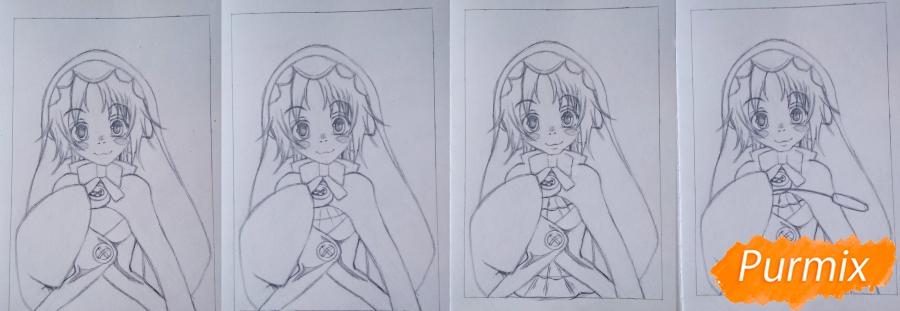 Рисуем Чамо Россо из аниме Герои шести цветов - фото 5