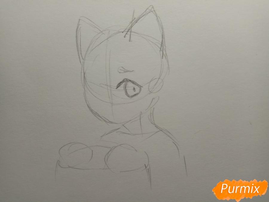 Рисуем Чеширского кота из аниме Сердце пандоры - шаг 2