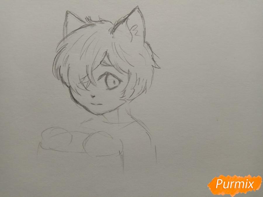 Рисуем Чеширского кота из аниме Сердце пандоры - шаг 4