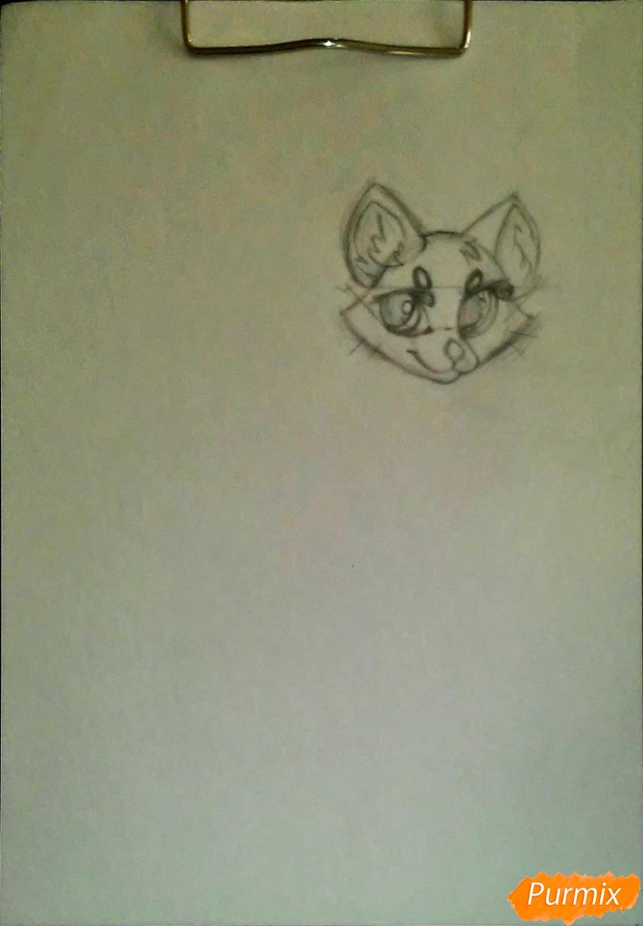 Рисуем cобачку c веером в стиле аниме - фото 2