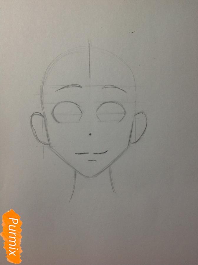 Рисуем Дайду Хибану из аниме Deadman Wonderland - шаг 3
