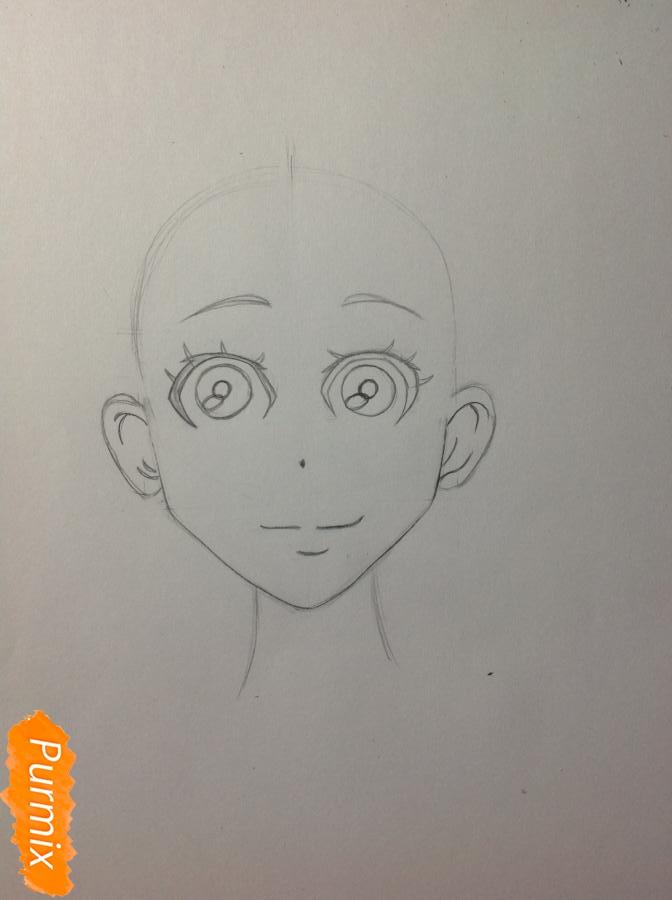 Рисуем Дайду Хибану из аниме Deadman Wonderland - шаг 4