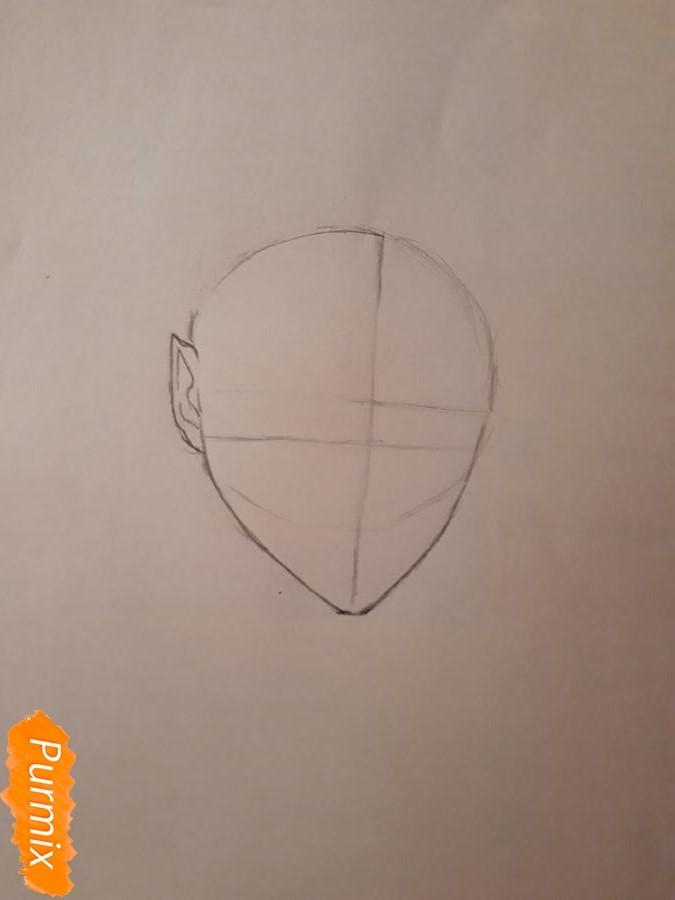 Рисуем демона Данталиона из аниме Принц преисподней демоны и реалист - шаг 1