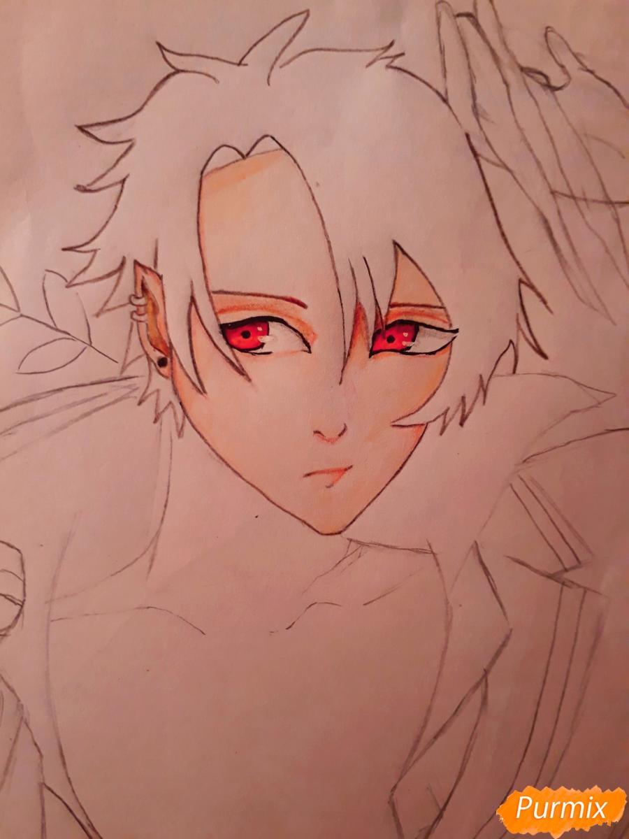 Рисуем демона Данталиона из аниме Принц преисподней демоны и реалист - шаг 11