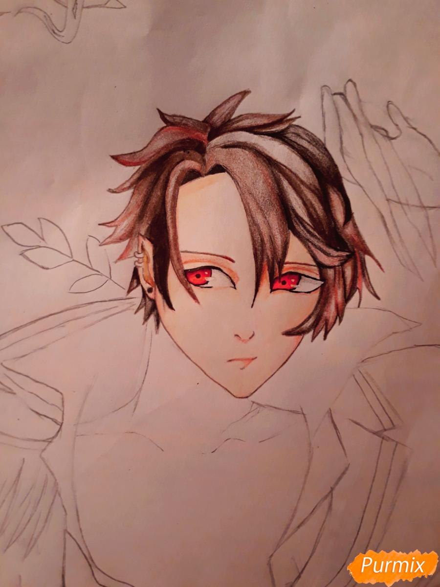 Рисуем демона Данталиона из аниме Принц преисподней демоны и реалист - шаг 12