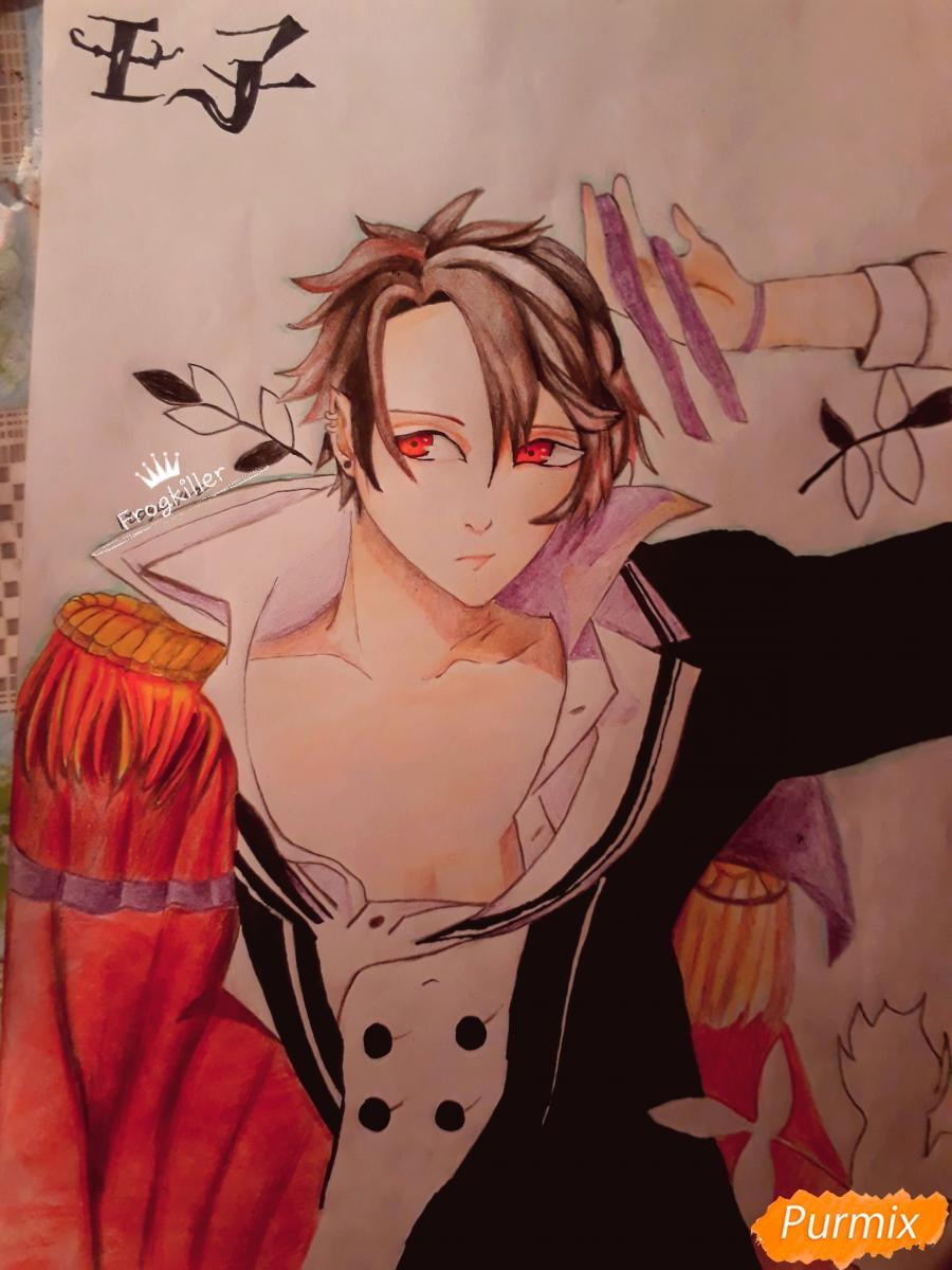 Как нарисовать демона Данталиона из аниме Принц преисподней демоны и реалист