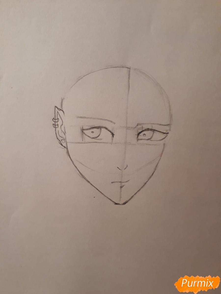 Рисуем демона Данталиона из аниме Принц преисподней демоны и реалист - шаг 2