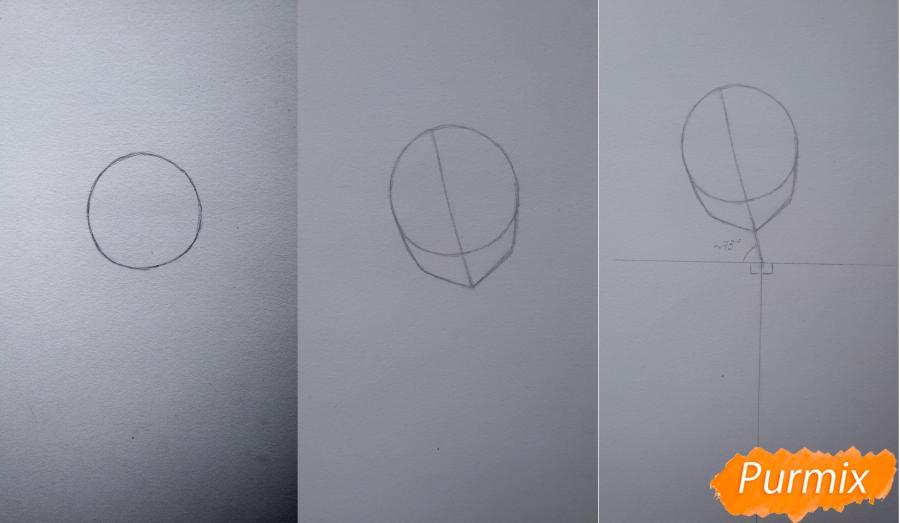 Рисуем девушку с короной в стиле аниме - шаг 1
