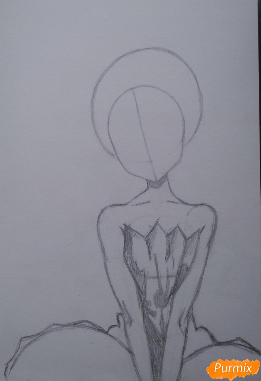 Рисуем девушку с короной в стиле аниме - шаг 5