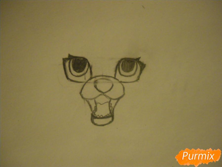 Рисуем двух серых кошечек в стиле аниме - шаг 2