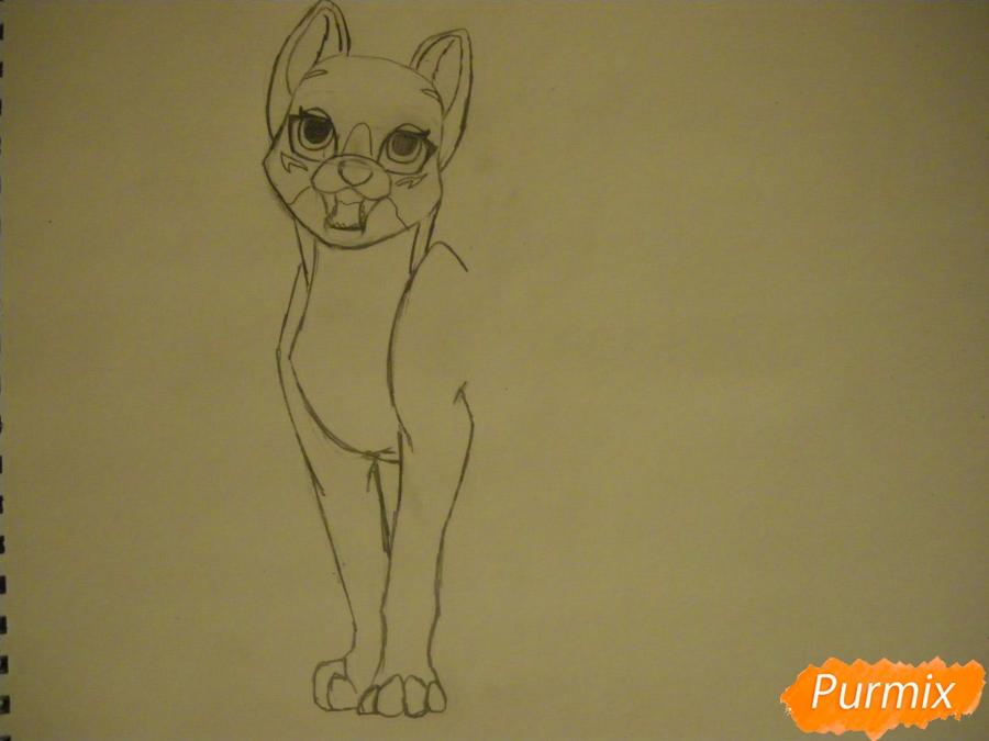 Рисуем двух серых кошечек в стиле аниме - шаг 4