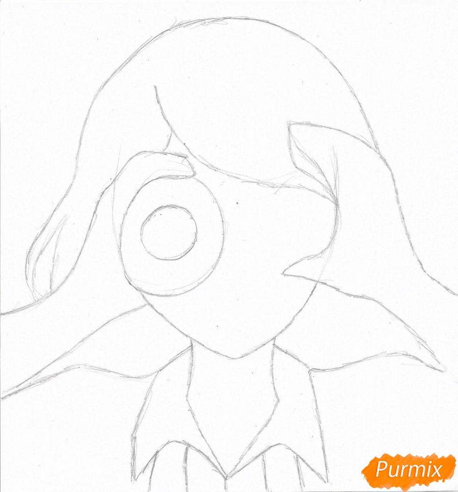 Рисуем Джузо Судзуя из аниме Токийский гуль - шаг 1