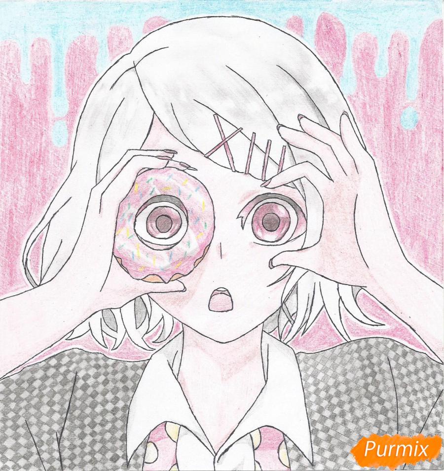 Рисуем Джузо Судзуя из аниме Токийский гуль - фото 10
