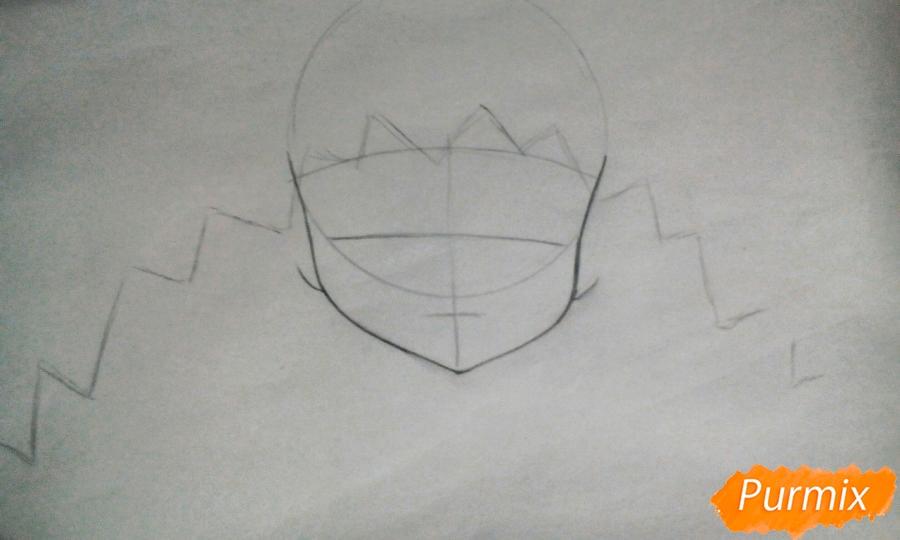 Рисуем Ёшино из аниме Рандеву с жизнью - фото 1