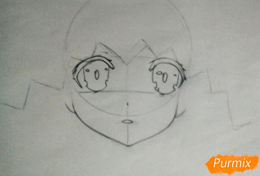 Рисуем Ёшино из аниме Рандеву с жизнью - фото 2