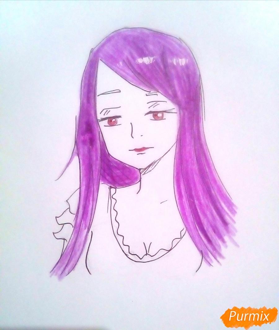 Рисуем гуля Ризе Камиширо из аниме Токийский Гуль - шаг 7