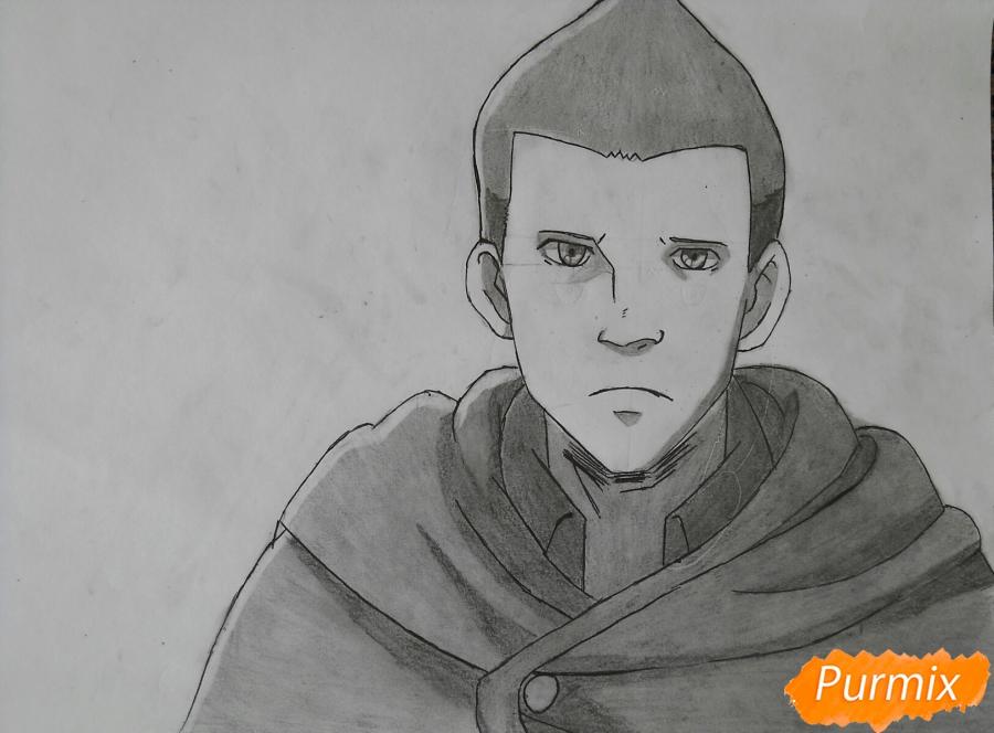 Как нарисовать Гюнтера из аниме Атака титанов карандашом